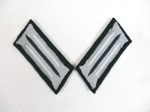 Wehrmacht M36 collar patch infantry weapon color white for teams + non-commissioned officers