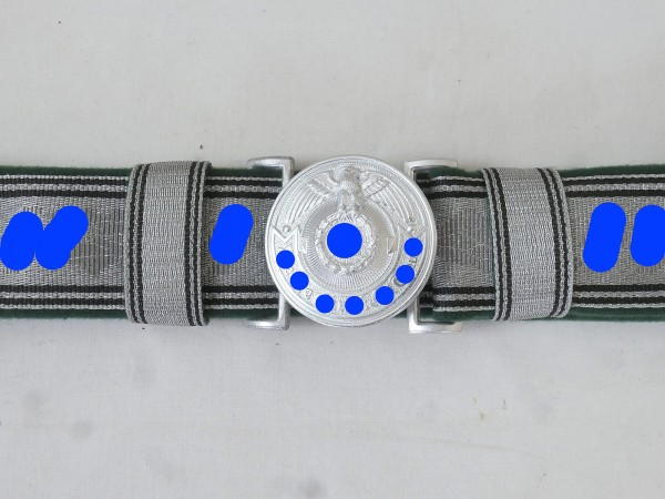 Field binding of the WSS Elite with padlock officer padlock 140cm