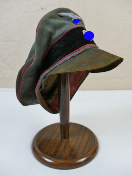 Weapons Elite Gabardine tank visor cap Crusher Cap with metal effects size 60 from museum