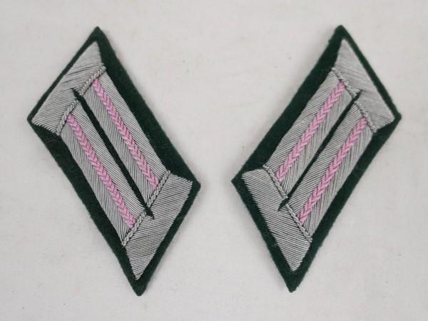 1x pair M36 collar tabs Wehrmacht Panzer tanker officer