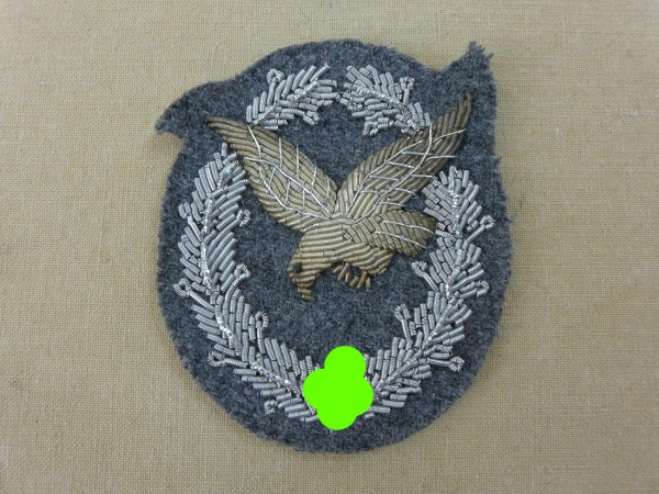 Luftwaffe air force gunner badge embroidered without flash bundle