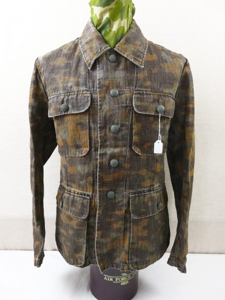 Waffen SS Drillich four-pocket uniform blurred edge camouflage tunic autumn vintage optic top museum reproduction