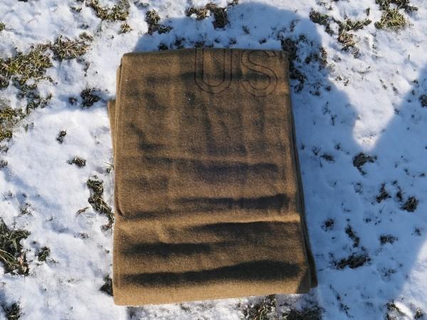 US ARMY Blanket Model 1934 / Made in 1951 / WW2 wool Virgin Blanket Depot