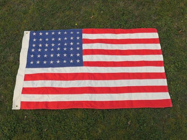 US ARMY WW2 Vintage Camp Jeep Flag 48 Stars Stars & Stripes Flag cotton 155x93cm