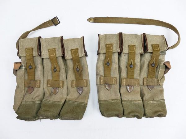 #02 Wehrmacht 2x Magazine pouch pair Sturmgewehr 44 Tropen Südfront STGW44 MP44 MKB Afrikakorps