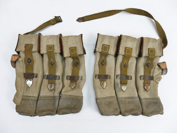 #10 Wehrmacht 2x Magazine pouch pair Sturmgewehr 44 Blue stripe STGW44 MP44 MKB Afrikakorps