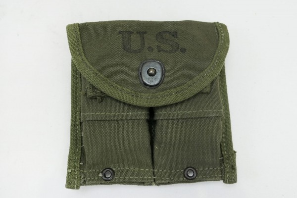 US ARMY Magazine pouch double magazine pouch for Carbine M1 Rifle 1945 with wooden magazines
