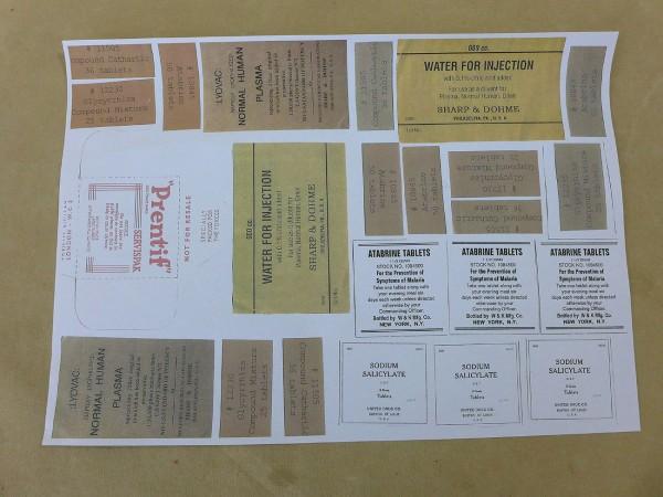 US Paperware for paramedics Labels Craft sheet