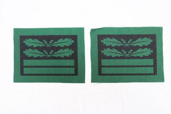 1x pair of WSS Obersturmbannführer rank badges for camouflage uniforms and special clothing