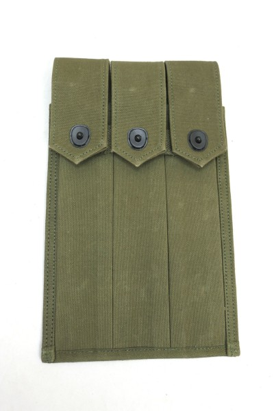 US Army WW2 magazine pouch for 3x Thompson magazines / 30 bar magazines