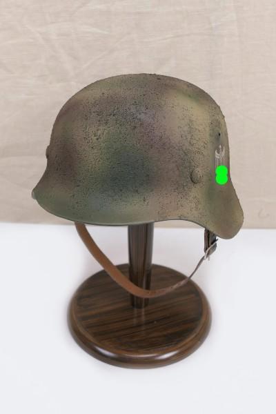 Wehrmacht camouflage DAK Tropen Stahlhelm M35 M40 DD Rauhtarn camouflage helmet size 57/58 #59