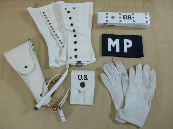 SET US MP COLT Holster Belt Gloves Armband Gaiters 3R Military Police