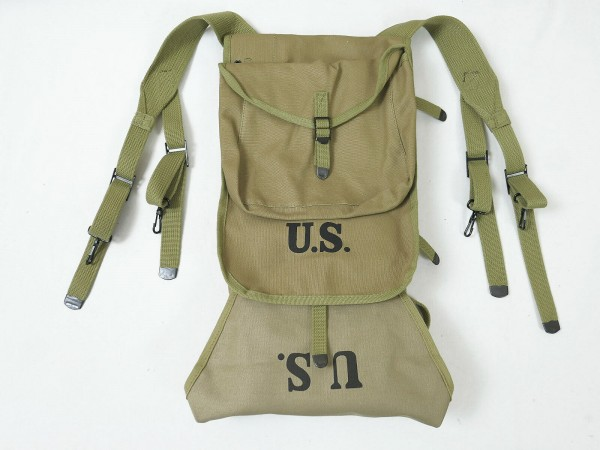 US M-1928 Haversack Storm Luggage + Carrier Trapeze Extension + mess kit pouch 3 pieces