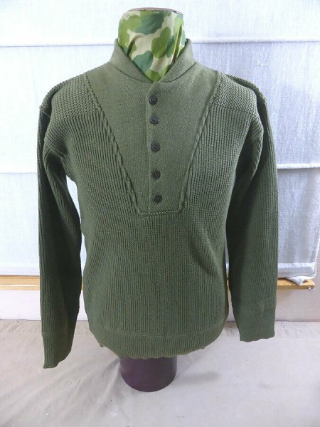 US Army WW2 GI High Neck Shirt Sweater Knitted Sweater Winter Additional Clothing