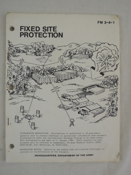 US Army FM 3-4-1 Fixed Site Protection