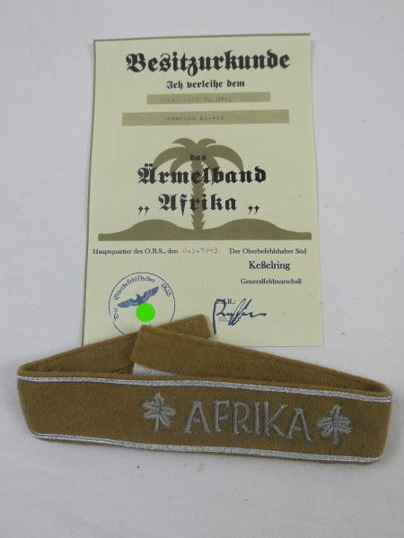 AFRIKA sleeve band with title deed