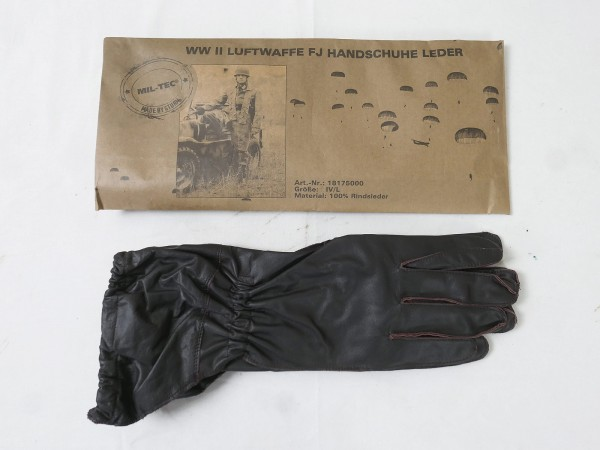 WW2 Wehrmacht LW Paratrooper Leather Gloves brown FJ Luftwaffe