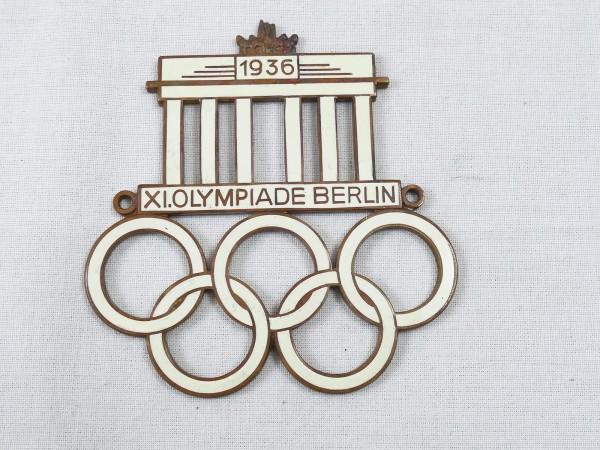 car badge XI Olympiade badge Olympia Berlin 1936 badge