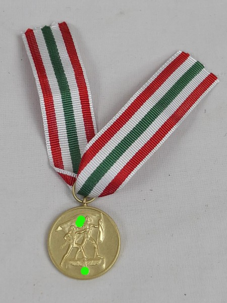 Medal in memory of the homecoming of the Memelland 22 March 1939 on ribbon