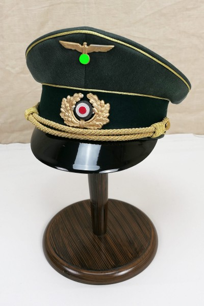 Wehrmacht army visor cap of a general with effects size 56