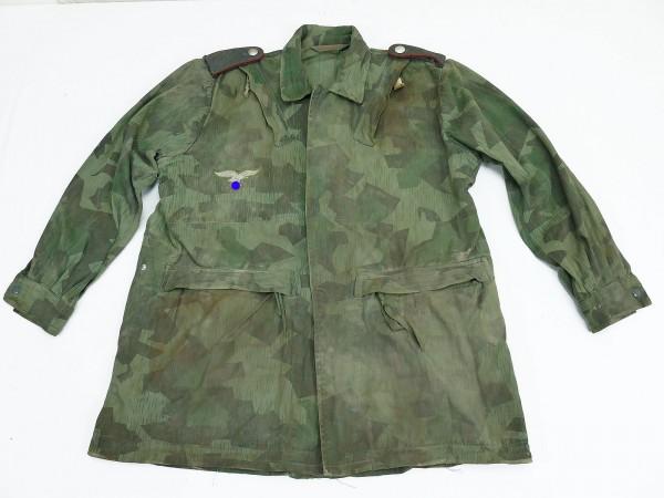 Wehrmacht Luftwaffe WL Bonebag M42 splinter camouflage tailored to a LW Field Division camouflage jacket