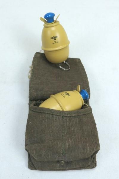 2x Deko Eihandgranate M39 Wehrmacht in hand grenade bag loot piece