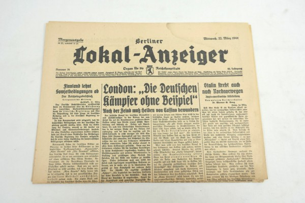 WK2 Complete daily newspaper - Berliner Lokal-Anzeiger 22 March 1944 - morning edition