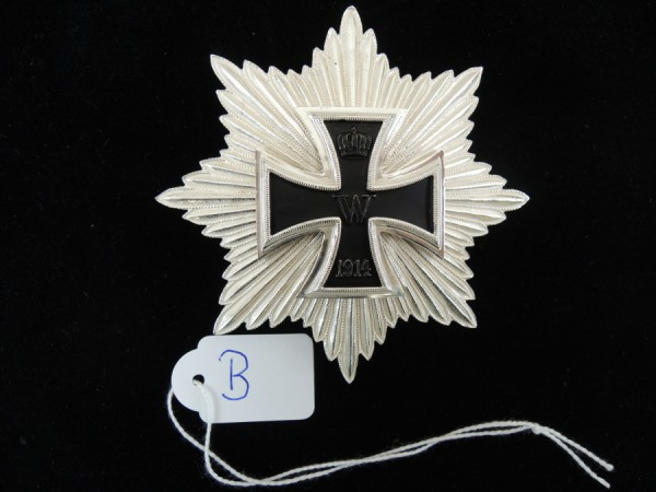Prussia Breast Star Grand Cross of the Iron Cross 1914 Hindenburg Star Uniform
