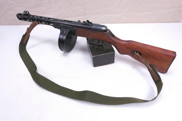 Russian PPsH 41 submachine gun decomodel antique finish with sling + drum magazine