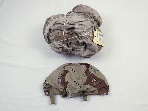 US Cover Helmet Desert Storm 6 color chocolate chip Helmet cover PASGT Medium Large