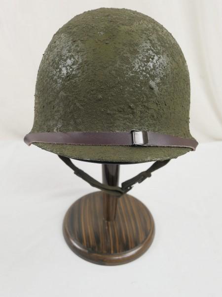US Army WW2 M1 Steel pot helmet steel helmet bell + liner inside helmet + mesh helmet