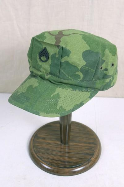 US Army Vietnam Patrol Cap Mitchell Leaf Pattern Staff Sergeant Jungle Gr.58