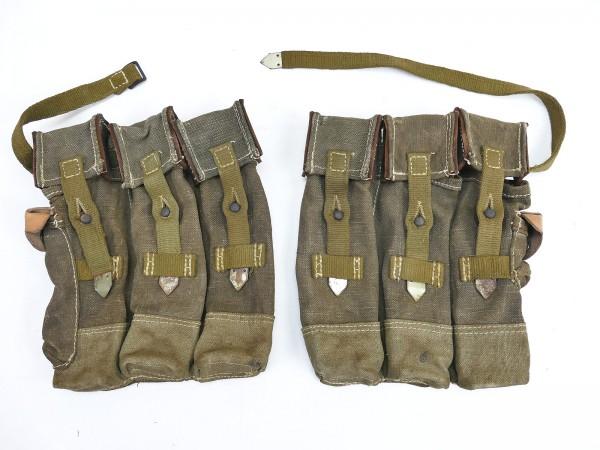 #01 Wehrmacht 2x Magazine pouch pair Sturmgewehr 44 Tropen Südfront STGW44 MP44 MKB Late War