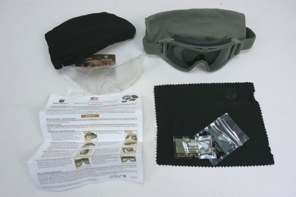US Revision Desert Locust Glass Goggles / Ballistic Goggles tinted olive