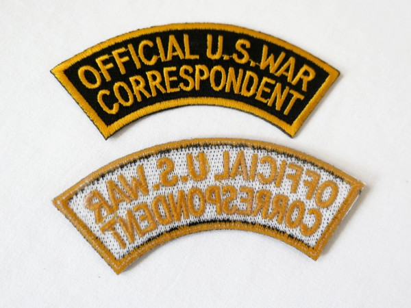 US Army Badge OFFICIAL U.S. WAR CORRESPONDENT