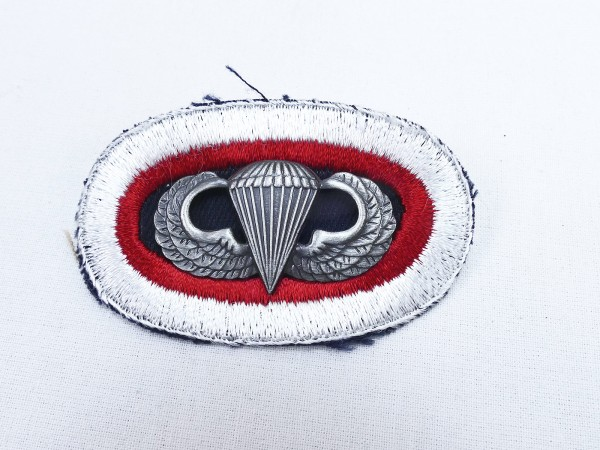 #05 US Airborne Jump Wing oval - Parachute badge Parachutist Badge Jump patch