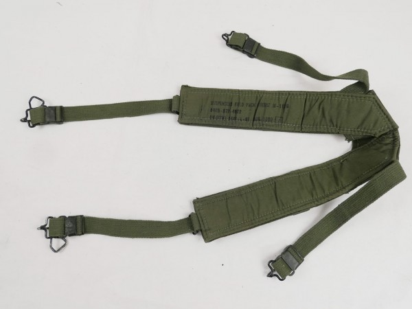 (S6) US Army WW2 M1944 Suspenders / Belt Carrier harness dated 1944 from Depot