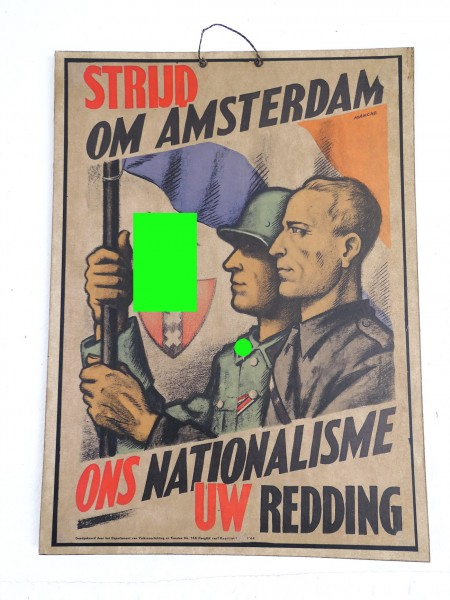 Poster picture on cardboard - Dutch volunteers WSS