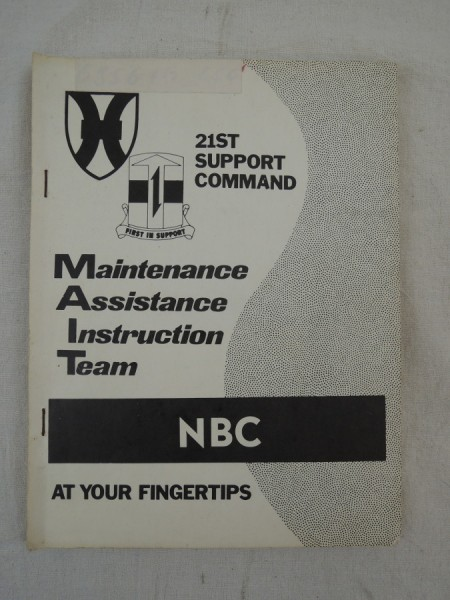 US Army Maintenance Assistance Instruction Team MAIT for NBC