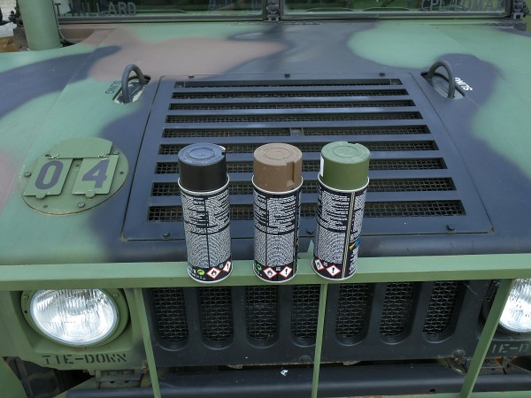 400ml paint, base price 25,00 €/L, restoration paint MATT Nato camouflage Humvee Hummer camouflage