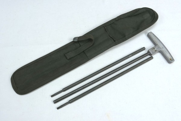 US Army M1 Cleaning Rod + Case / Cleaning Rod + Bag for 30 Cal.