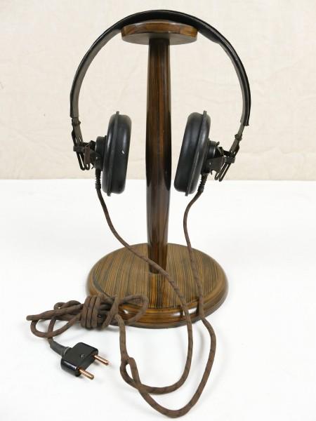 WW2 Wehrmacht Panzer headphones Dfh.b 1944 satchel radio small radio