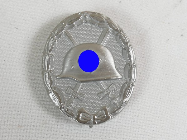Wehrmacht wounded badge silver massive