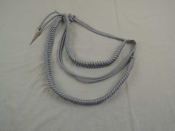 Wehrmacht PARADE Catch Cord Monkey Swing Adjutant Cord Uniform, silver