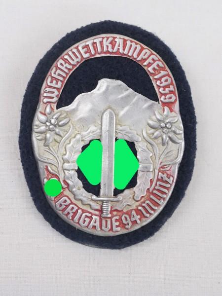 Event badge Wehrwettkämpfe 1939 SA Brigade 94 in Linz