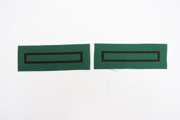 1x pair WSS Unterscharführer rank badges for camouflage uniforms and special clothing