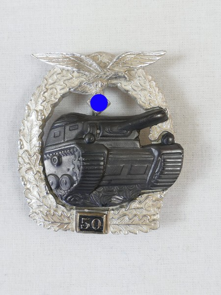Tank combat badge of the air force with mission number 50