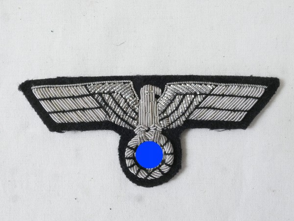 breast eagle officer tank troop silver thread embroidered for tank jacket