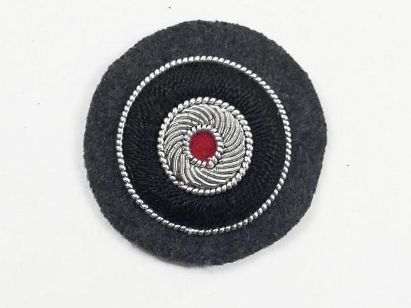 Luftwaffe cockade embroidered on blue-grey cloth