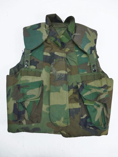 Armor Body Fragmentation Protective Flak Vest Woodland Medium